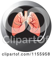 Clipart Of A Human Lungs Icon Royalty Free Vector Illustration