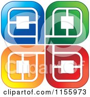 Clipart Of Colorful Spirals Royalty Free Vector Illustration by Lal Perera
