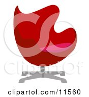 Red Chair Clipart Illustration