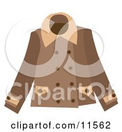 Brown Ladies Coat Clipart Picture