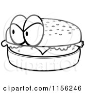 hamburger bun coloring page - photo #8
