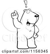 Cartoon Clipart Of A Black And White An Exclaiming Groundhog Vector Outlined Coloring Page