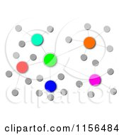 Clipart Of A Colorful Cluster Network 3 Royalty Free CGI Illustration