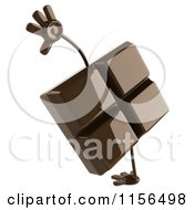 Clipart Of A 3d Chocolate Mascot Cartwheeling Royalty Free CGI Illustration