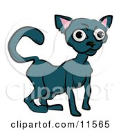 Black Cat Clipart Illustration