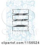 Clipart Of A Banner Over Blue And White Floral Royalty Free Vector Clipart