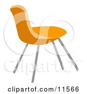 Orange Chair Clipart Illustration
