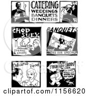 Black And White Retro Food Service Signs