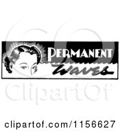 Black And White Retro Woman With Permanent Waves Text