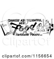 Clipart Of A Black And White Retro Dining Food Border 3 Royalty Free Vector Clipart