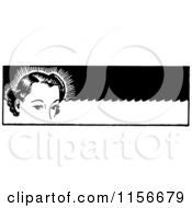 Black And White Retro Woman With Permanent Waves