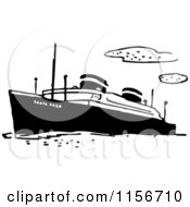 Black And White Retro Ship 2
