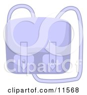 Blue Purse With A Long Shoulder Strap Clipart Picture