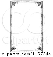Clipart Of A Retro Vintage Black And White Border Royalty Free Vector Illustration