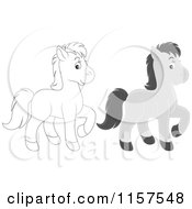 Cute Gray And Outlined Horse