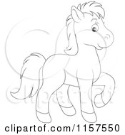 Cute Outlined Horse