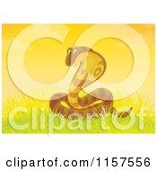 Cartoon Of A Cobra Snake In Grass Royalty Free Illustration