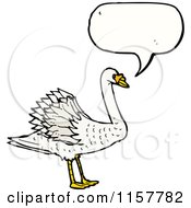 Cartoon Of A Talking Swan Royalty Free Vector Illustration