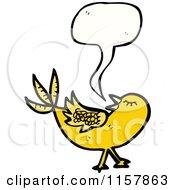 Cartoon Of A Talking Yellow Bird Royalty Free Vector Illustration