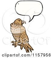 Cartoon Of A Talking Hawk Royalty Free Vector Illustration