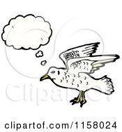 Cartoon Of A Thinking Seagull Royalty Free Vector Illustration