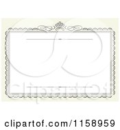 Clipart Of A Swirl Frame Wedding Invitation With A Crown And Copyspace Royalty Free Vector Illustration