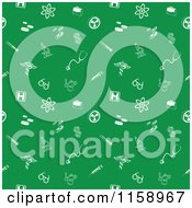 Clipart Of A  Green Seamless Medical Background Pattern With White Icons Royalty Free Vector Illustration