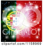 Clipart Of A Firework Burst Over A Portugal Flag Royalty Free Vector Illustration