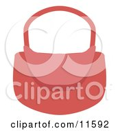 Womans Pink Purse Clipart Picture