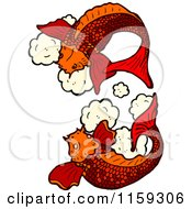 Cartoon Of Red Koi Fish Royalty Free Vector Illustration