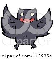 Cartoon Of A Flying Bat Royalty Free Vector Illustration