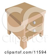 Side Table Clipart Illustration