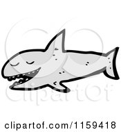 Cartoon Of A Shark Royalty Free Vector Illustration by lineartestpilot