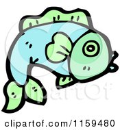 Cartoon Of A Fish Royalty Free Vector Illustration by lineartestpilot