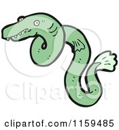 Cartoon Of An Eel Royalty Free Vector Illustration by lineartestpilot