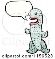 Cartoon Of A Talking Fish Royalty Free Vector Illustration