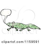 Cartoon Of A Talking Salamander Royalty Free Vector Illustration