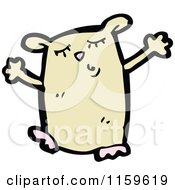Cartoon Of A Hamster Royalty Free Vector Illustration by lineartestpilot