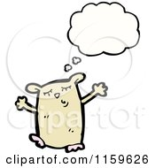 Cartoon Of A Thinking Hamster Royalty Free Vector Illustration