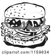 Black And White Cheeseburger