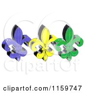Clipart Of Mardi Gras Fleur De Lis Royalty Free Illustration