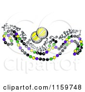 Mardi Gras Beads With Throw Me Somethin Mister Text