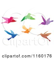 Clipart Of Gradient Hummingbirds Royalty Free Vector Illustration by Vector Tradition SM