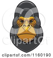 Clipart Of A Gray Gorilla Face Royalty Free Vector Illustration by Vector Tradition SM