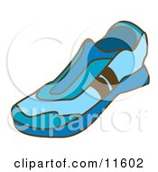 Blue Slip On Tennis Shoes Clipart Picture by AtStockIllustration