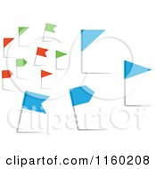 Clipart Of Red Green And Blue Flag Pins Royalty Free Vector Illustration