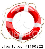Clipart Of A Life Buoy With A Rope Royalty Free Vector Illustration