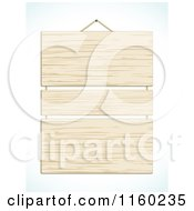 Clipart Of A Hanging Wooden Sign With Three Panels Royalty Free Vector Illustration by elaineitalia