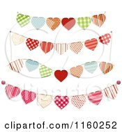 Clipart Of Heart Bunting Party Banners Royalty Free Vector Illustration