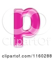 Clipart Of A 3d Pink Jelly Lowercase Alphabet Letter P Royalty Free CGI Illustration